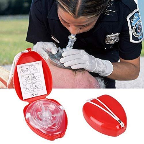 Erste Hilfe CPR Rescue Mask, für Erwachsene/Kinder - Beatmungsbeutel, Hartschalenetui mit Handschlaufe