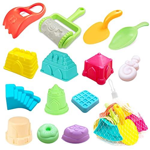 juguetes playa,Juguetes para la Arena,Juego de Juguetes de Playa y Arena,moldes de Arena para niños,kit playa niños,Juguetes Set de Playa para Niños,Conjunto de Juguetes para la Playa (14 piezas)