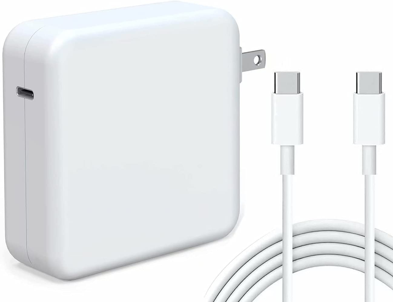 Kiolafy 96W USB C Power Adapter, Compatible with MacBook Pro Charger 13 15 16 inch 2020 2019 2018, Works with USB C 96W 87W 61W PD Power Charger, Included USB-C to USB-C Charge Cable (6.6ft/2m)