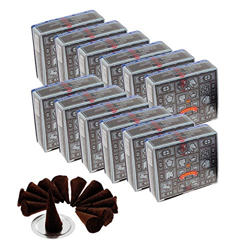 Satya Nag Champa Super Hit Incense Cones, 12 packs of 12