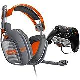 Astro 3AS42-XOU9N-369 - Auriculares de diadema cerrados (con microfono) A40 para Xbox One, negro y naranja y gris