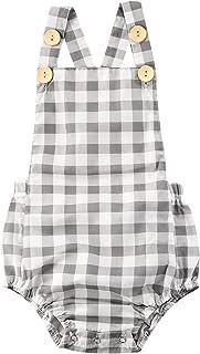 طفل بنين فتاة أكمام إجمالي الفتيات كشكش بذلة الصيف ارتداءها الرضع فحص الملابس 0-24months (Color : Green, Kid Size : 24M)