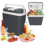 Hengda 24 liters Portable Electric Cooler Mini Refrigerator Hot / Cold Carry Handle [Energy Class A ++]
