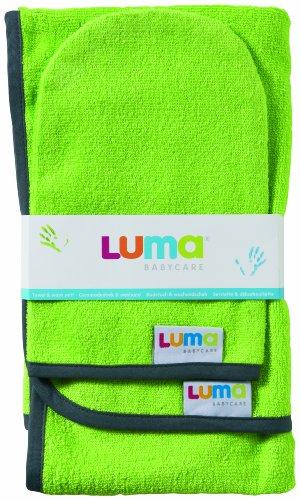 Luma Set Serviette + Gant de Toilette Lime Green