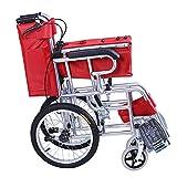 YH-LY Sedia a rotelle Pieghevole Super-Leggera, Carrozzina Pieghevole ad autospinta Sedia a rotelle Acciaio Carrozzella per Anziani e Disabili.