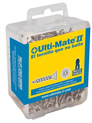 Ulti-Mate II B50070L1 Caja grande con tornillos de alto rendimiento para madera...