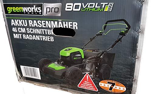 Greenworks Akku-Rasenmäher 80 V Radantrieb 55 l Mulcherfunktion Akkumäher Mäher