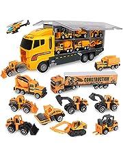 Jenilily Toy Trucks Vehicle Mini Cars Set for Kids Enfant Age 3+