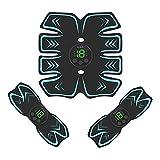 GoodWell Electroestimulador Muscular Abdominales Cinturón,Masajeador Eléctrico Cinturón con USB,...