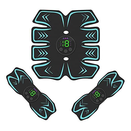 GoodWell Electroestimulador Muscular Abdominales Cinturón,Masajeador Eléctrico Cinturón con USB, Estimulación Muscular Masajeador...