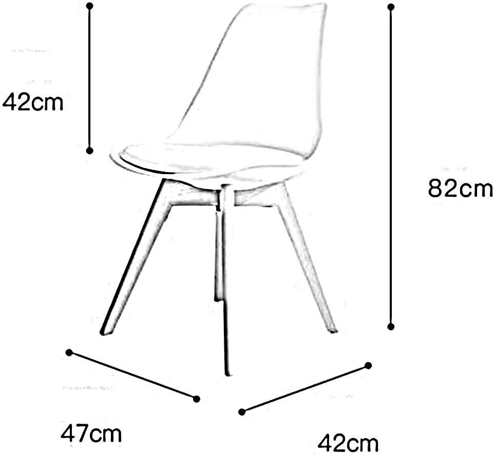 WFF Chaise de Bureau Chaise Simple Style Nordique Chaise en Bois Massif Chaise en hêtre Chaise en Bois Jambe Balcon Restaurant (Color : B) E