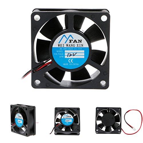 Jiamins PC-Lüfter, 60 mm, Kühler und Kühler 6020 für PC-Gehäuse (12 V, 4500 U/min, 29 dBA, 31,68 cfm)