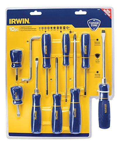 IRWIN TorqueZone Screwdriver Set, 10 Piece