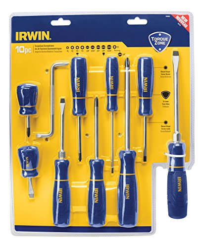 IRWIN TorqueZone Screwdriver Set, 10 Piece