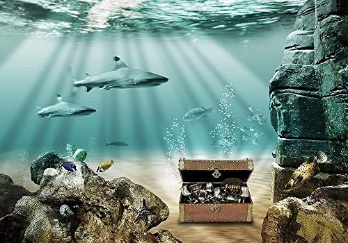 VGFGI Vinilo autoadhesivo moderno Mapa del tesoro subacuático moderno Regalo creativo de la etiqueta engomada