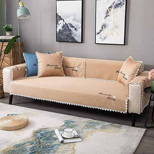 Funda de sofá cheslong,Cubierta de sofá de la habitación de la niña,cubierta protector de sofá fresco de verano,cubierta de deslizamiento universal para 2/3/4 plazas,sofá de esquina,sofá de for