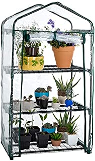 Pure Garden 27.5 in. x 19 in. x 50 in. 3 Tier Greenhouse