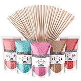 Misskandy, zucchero filato per macchina/lotto da (5 * 160g) / aromi: fragola, marshmallow, mela, cola, lampone + 50 bastoncini di (30 cm)……
