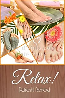 Global Printing Services Nail Salon Poster - Manicure Spa Pedicure Foot Treatment Floral Mud Mask Poster || NSD-150 (24in x 36in, Poster (Polymatte))