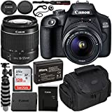 Canon EOS 4000D DSLR Camera with EF-S 18-55mm f/3.5-5.6 III Lens Beginner's Bundle - Includes: SanDisk Ultra 128GB SDXC Memory Card, Extended Life LPE10 Replacement Battery, Flexible Tripod & More