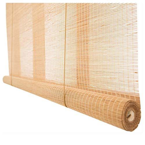 zhicheng shop Persianas enrollables para Exteriores/Ventanas, Cortina de protección Solar para Ventana de día y Noche de bambú Natural para balcón/pérgola