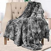 #LightningDeal Everlasting Comfort Luxury Faux Fur Throw Blanket - Soft, Fluffy, Warm, Cozy, Plush