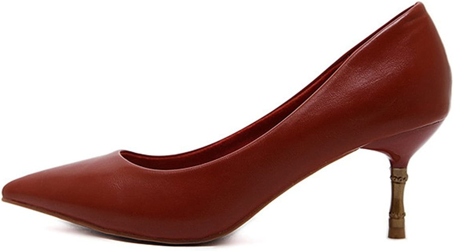 T-JULY Women Fashion Pointed Toe High Heels Slip On Flats Casual Loafers shoes