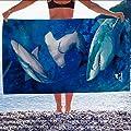Jay Franco & Sons Shark Beach Towel 30 X 60 Inch Large Beach Towel Cotton Hammerhead Shark Great White Shark Beach Towel