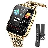Montre Connectée 1.69' Montre Intelligente Femmes Hommes avec Cardiofrequencemètre Smartwatch Etanche IP68 Montre Sport GPS Cardio Fitness Tracker Podometre Calories Chronometre Montre Tactile