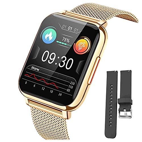 """Montre Connectée 1.69"""" Montre Intelligente Femmes Hommes avec Cardiofrequencemètre Smartwatch Etanche IP68 Montre Sport GPS Cardio Fitness Tracker Podometre Calories Chronometre Montre Tactile"""