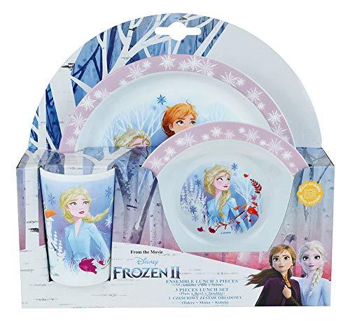 Fun House 005716 Disney Frozen - Juego de comidas compuesto por plato,...
