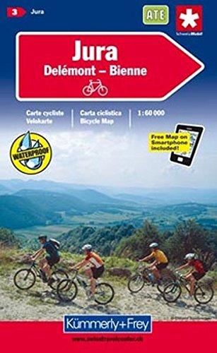 Wanderkarte Jura - Delsberg 1:60 000, waterproof (Kümmerly+Frey Velokarten)