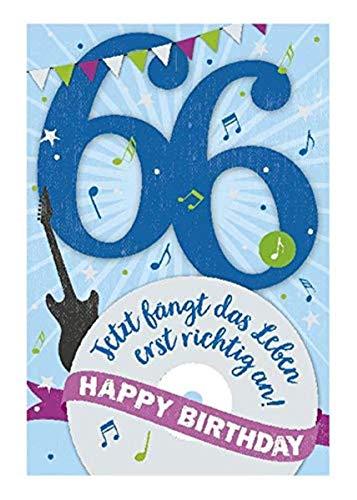 Depesche 5698.085 - Glückwunschkarte mit Musik, 66. Geburtstag