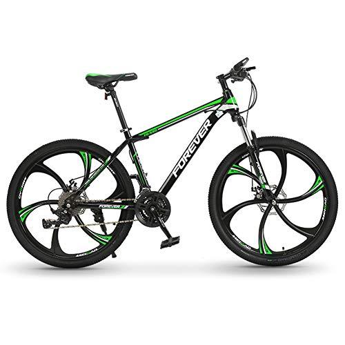 LHR Bicicleta De Montaña Plegable, 26 Pulgadas Doble Absorción De Impactos Fuera De Carretera, Bicicleta De Velocidad Variable Trek Portátil Ultraligera Adecuada para Estudiantes Adultos,2green