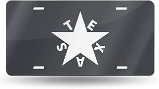 Nizheng Republic of Texas Star Universal Front Bumper License Plate 6
