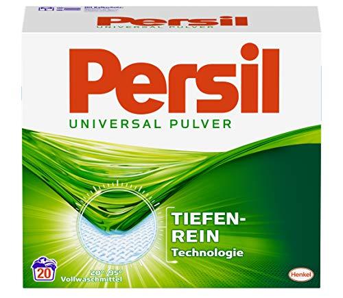 Persil Universal Pulver, Vollwaschmittel, 80 (4 x 20) Waschladungen, kraftvolle Fleckenentfernung für hygienisch reine Wäsche