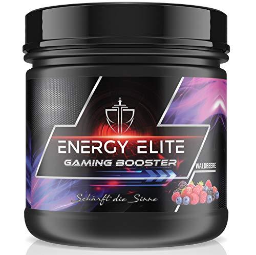 GAMING BOOSTER von Energie Elite 500g Dose – Energy drink für volle Konzentration – Vegan – Ohne Koffein – Ohne Konservierungsmittel – Waldbeere