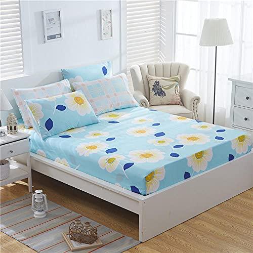 XGguo Protector de colchón de Rizo algodón y Transpirable Sábana de algodón Antideslizante comfort-12_150x200cm
