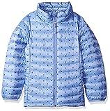 Amazon Essentials Big Girl's Lightweight Water-Resistant Packable Puffer Jacket, Blue Dot, Large