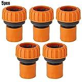 Fdit Conector de Manguera de Agua PP de 1 Pulgada Conector de Manguera de spayer de arandela rápida (5 Piezas)