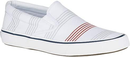 Sperry Top-Sider Striper II Slip On Oxford Shirt Sneaker Men 10 Stripe