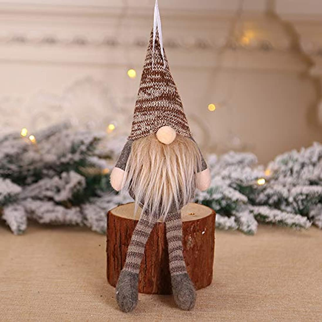 南考慮同性愛者クリスマスぬいぐるみ吊り人形装飾、サンタ人形ペンダント、ノルディックドワーフ人形クリスマスツリー飾り人形装飾、20 * 12 * 5、クリスマスや感謝祭の装飾に使用