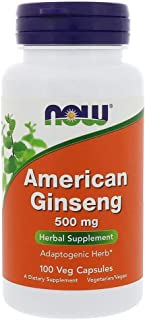 Now Foods American Ginseng 500 mg - 100 Veg Capsules
