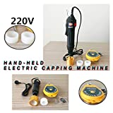 Capping Machine TBVECHI 110V Handheld Electric Bottle Capping Machine Screw...