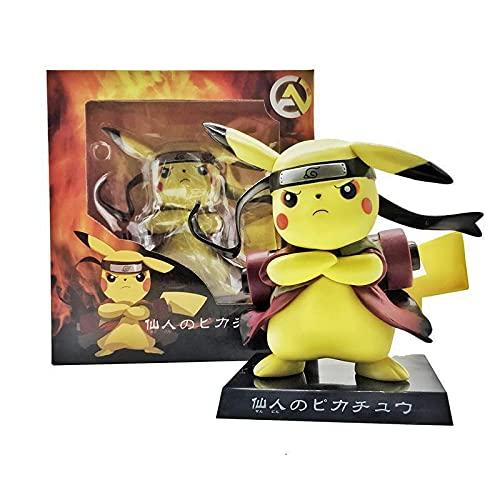bamzok Figura de anime Modelo Juguetes, Pokemon Pikachu Naruto Figura Decoración Muñeca Sorpresa Juguetes Para Niños