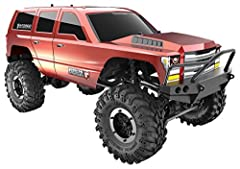 Featuring a 3mm thick ladder frame Chassis Solid axle carrier locks the left and right wheels for maximum grip in technical conditions Aluminum Capped coilover shocks Brushed 550 motor and high power brushed motor delivers ample power to the wheels M...