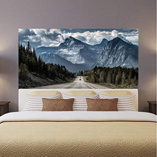 Xiaoaige Forest Road Snow Mountain Mesitas De Noche Decoración De Dormitorio Papel Pintado Paisaje Poster Mural
