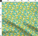 Papierflieger, Flugzeuge, Blau, Gelb, Rot, Hobby Stoffe -