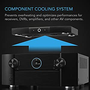 AC Infinity AIRCOM S7, Quiet Cooling Fan System 12″ Top-Exhaust for Receivers, Amps, DVR, AV Cabinet Components