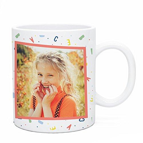 Regalo Original Taza de plástico Infantil Personalizada con Foto y Abecedario para...